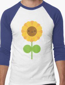 Kawaii Sunflower Men's Baseball ¾ T-Shirt