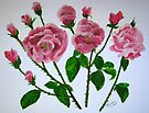 Pink roses  by Elizabeth Kendall