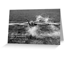 Iniquity Greeting Card