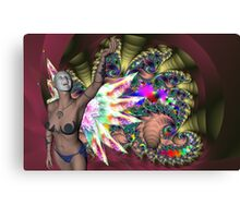 FUN AT THE FAIRGROUND Canvas Print