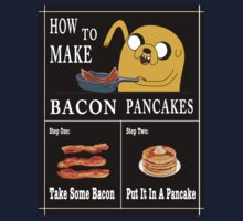 How To: Bacon Pancakes One Piece - Short Sleeve