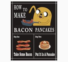 How To: Bacon Pancakes Kids Tee