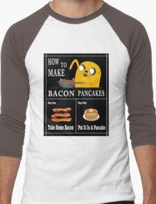 How To: Bacon Pancakes Men's Baseball ¾ T-Shirt
