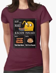 How To: Bacon Pancakes Womens Fitted T-Shirt
