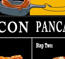 How To: Bacon Pancakes Sticker