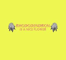 Rhododendron Is A Nice Flower by Andrew Alcock