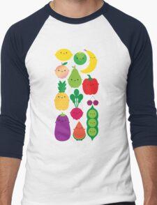 5 A Day Fruit & Vegetables Men's Baseball ¾ T-Shirt