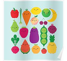 5 A Day Fruit & Vegetables Poster