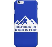 Nothing in Utah is Flat Big Peaks Design iPhone Case/Skin