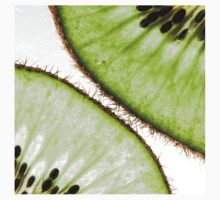 Macro photo of kiwifruit One Piece - Short Sleeve