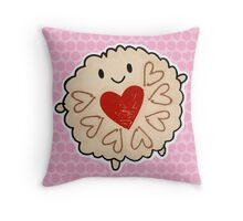 Jammie Dodger Watercolour Throw Pillow