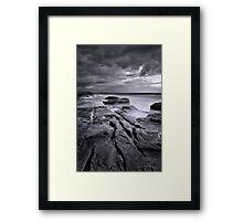 Manly Rocks Framed Print