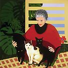 Susanne and Cats by rubylily