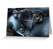 Lea-Francis Headlamps & Grill Greeting Card