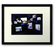Chaotic Television Set Up Framed Print