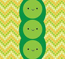 Kawaii Peas in a Pod by Marceline Smith