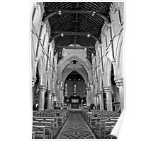 Interior of Christchurch Cathedral Poster