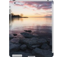 Pink and Gray Placidity - Morning Zen on the Lake iPad Case/Skin