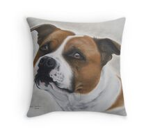 Staffordshire Bull Terrier in Pastel Throw Pillow