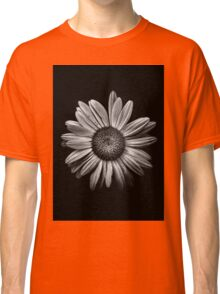 Backyard Flowers In Black And White 13 Classic T-Shirt