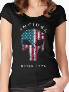 American Punisher 2.0 - Infidel Women's Fitted Scoop T-Shirt