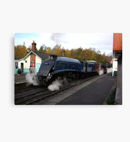 Steam at Grosmont  - North Yorks. Canvas Print