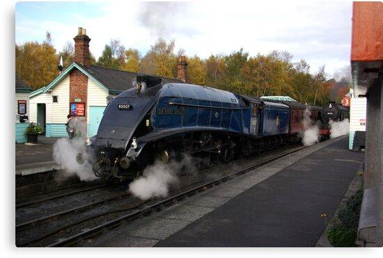 Steam at Grosmont  - North Yorks. by Trevor Kersley