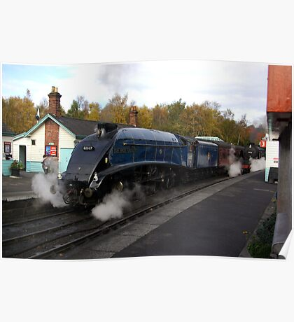 Steam at Grosmont  - North Yorks. Poster