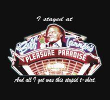 Biff Tannen's Pleasure Paradise t-shirt by SmashBam