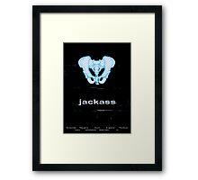 Minimalist Jackass Movie Poster Framed Print