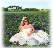Beautiful Bride in Bluebonnets by JordansJewels