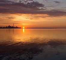 Toronto's Skyline at Sunrise by Georgia Mizuleva