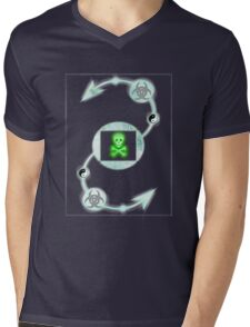 Shimmering green Mens V-Neck T-Shirt