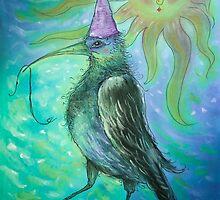 Mystical Bird - Turquoise  by jbjobby