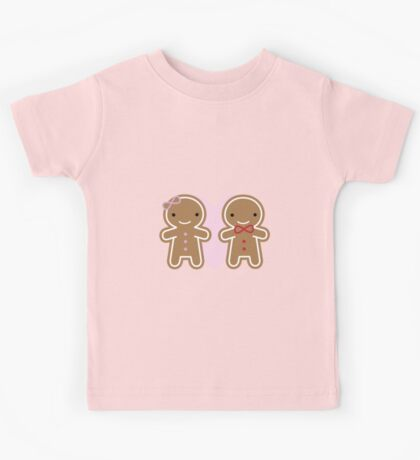 Cookie Cute Gingerbread Couple Kids Tee
