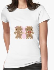 Cookie Cute Gingerbread Couple Womens Fitted T-Shirt
