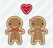 Cookie Cute Gingerbread Couple by Marceline Smith