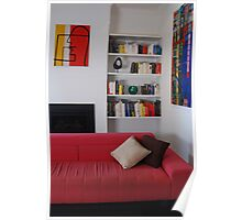 Living Room - Coloured Books. Poster