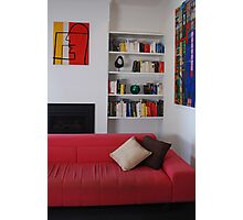 Living Room - Coloured Books. Photographic Print