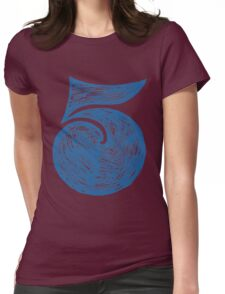Big Fat Number Five #5 Womens Fitted T-Shirt
