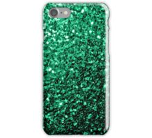 Beautiful Emerald Green glitter sparkles iPhone Case/Skin