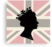 GOD SAVE THE QUEEN! (PINK) Canvas Print