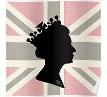 GOD SAVE THE QUEEN! (PINK) Poster