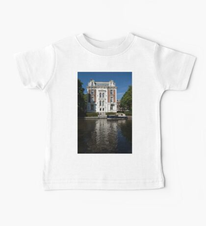Amsterdam Canal Mansions - Bright White Symmetry  Baby Tee