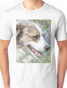 Dog in Bluebells Unisex T-Shirt
