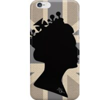 GOD SAVE THE QUEEN! (GREY) iPhone Case/Skin