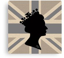 GOD SAVE THE QUEEN! (GREY) Canvas Print