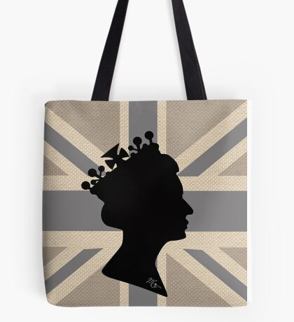 GOD SAVE THE QUEEN! (GREY) Tote Bag