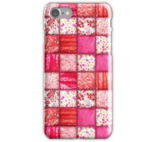 Faux Patchwork Quilting - Pink and Red iPhone Case/Skin