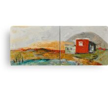 Red House on the Lake Canvas Print